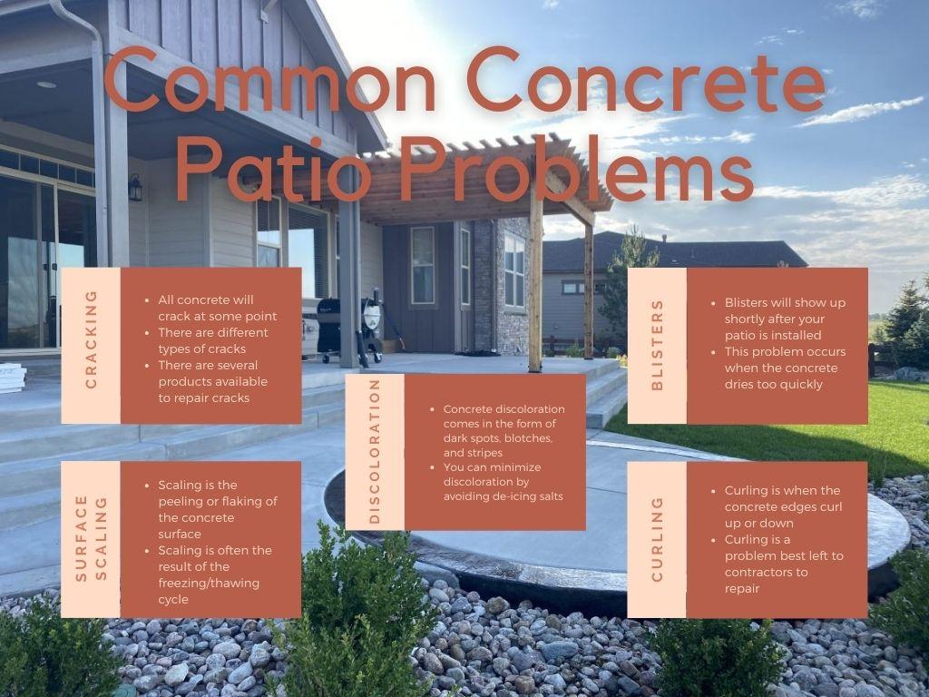 concrete patio problems