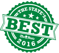 "A green badge that states ""The State's Best 2016"""