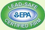 "A trust badge that reads ""Lead-Safe EPA Certified Firm"""
