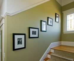 Interior painting of a stairway in South Carolina by Change My Paint!