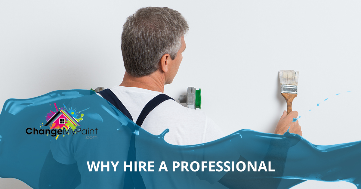 "A blog banner for ""why hire a professional painter"""