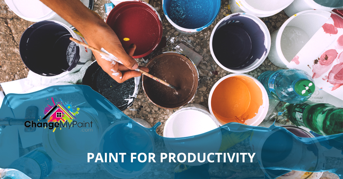 """A blog banner for """"Paint for productivity"""""""