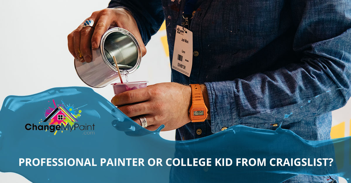 """A blog banner for """"professional painter or college kid from craigslist"""""""