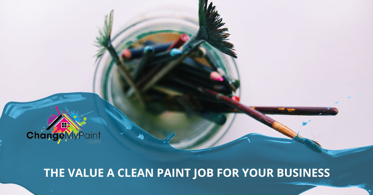 "A blog banner for ""the value of a clean paint job for your business"""