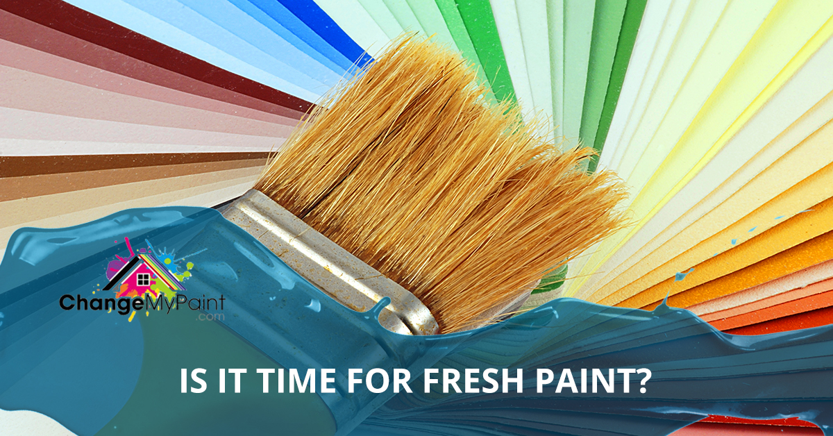 "A blog banner for ""is it time for fresh paint?"""