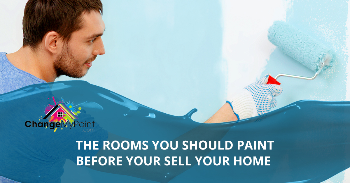 """A blog banner for """"the rooms you should paint before your sell your home"""""""