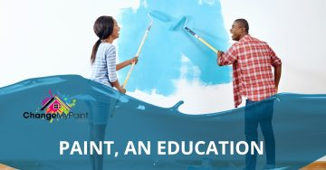 "Blog banner for ""paint, an education"""