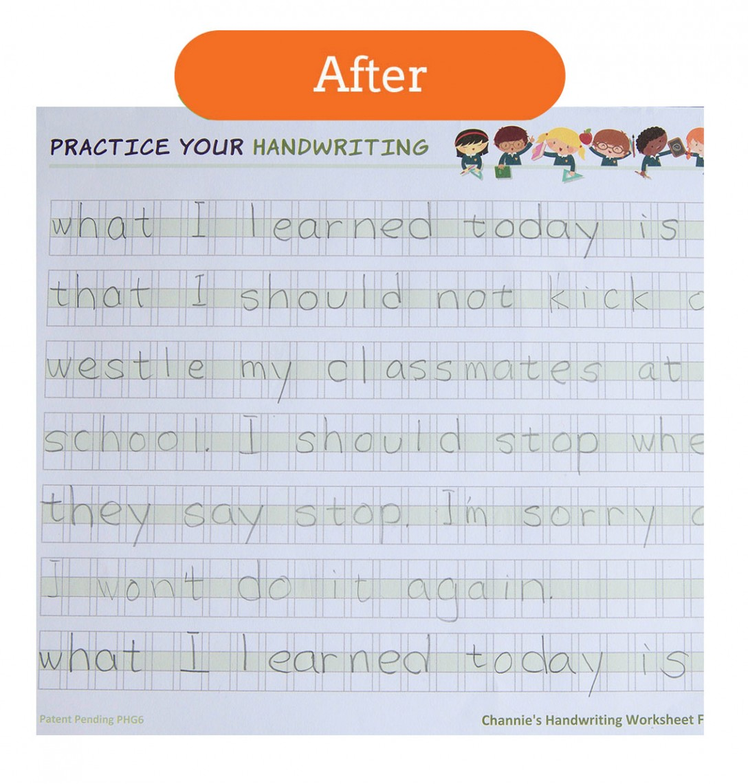 Penmanship Workbook – Improve Handwriting Worksheets