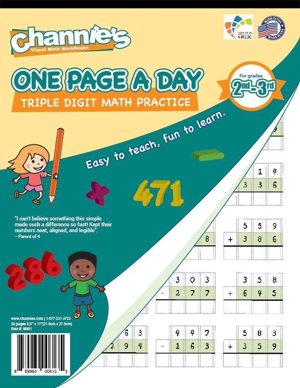 One Page A Day | Channie\'s Visual Handwriting Workbooks