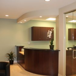Our Charlotte dental clinic's front desk