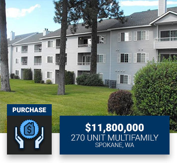 $11,800,000270 Unit MultifamilySpokane, WAPurchase