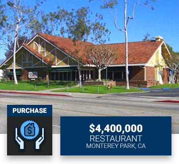 $4,400,000RestaurantMonterey Park, CAPurchase