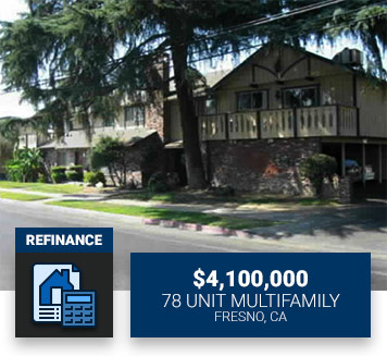 $4,100,00078 Unit MultifamilyFresno, CARefinance