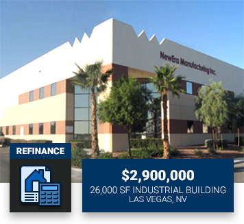 $2,900,00026,000 SF Industrial BuildingLas Vegas, NVRefinance