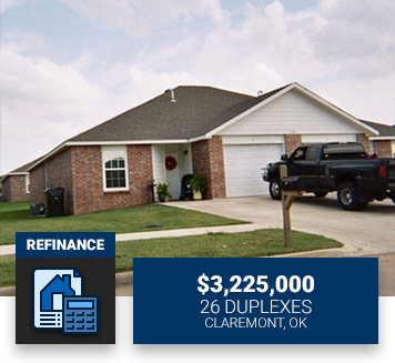 $3,225,00026 DuplexesClaremont, OKRefinance