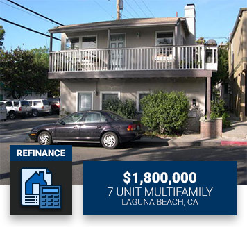 $1,800,0007 Unit MultifamilyLaguna Beach, CARefinance