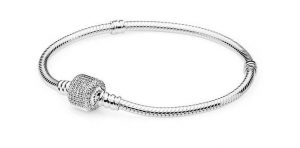 PANDORA Bracelet in Sterling Silver with Signature Clear CZ Clasp