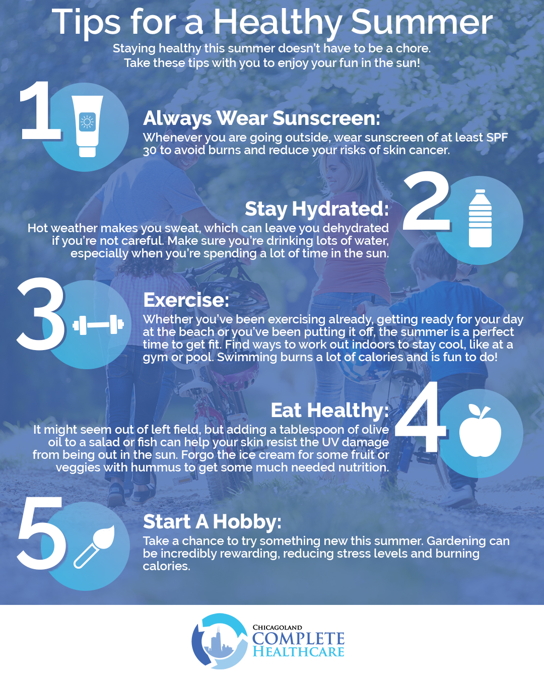 how to stay healthy in the summer heat