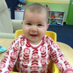 happy infant