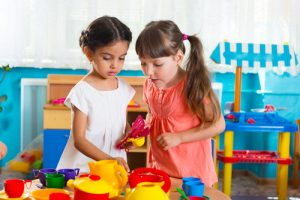 preschool friends playing