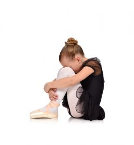 Tired girl at dance