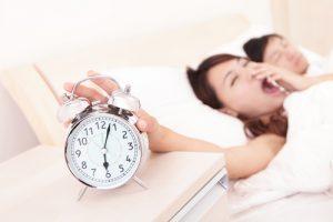 waking up to alarm