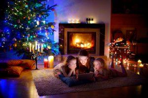 family at christmas time