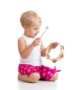 Toddler with Instrument
