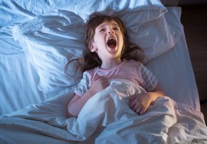 Child having bad dream