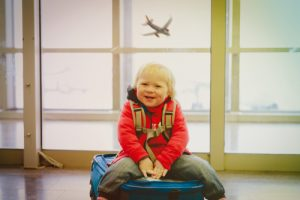young child in airport