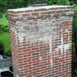 A neglected chimney, pre-restoration