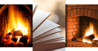 Book and Fireplace Banner