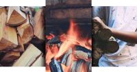 Logs and Fire Banner