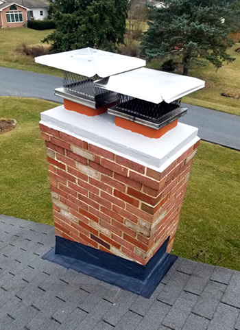 Repaired Chimney With New Cap