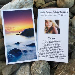 afterglow memorial poem