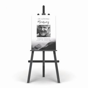funeral memorial poster for a grandmother or grandfather