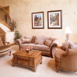 Elegant Sitting Room in New Custom Home - Classic Custom Builders