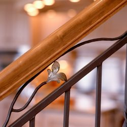 Custom Welded Banister in Luxury Home - Classic Custom Builders