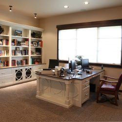 Office Inside of Luxury Home - Classic Custom Builders