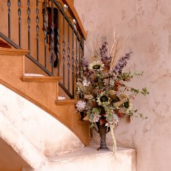 Flowers on a Mantle of Luxury Home - Classic Custom Builders