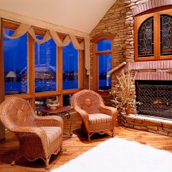 Sitting Area and Hearth in Custom Home