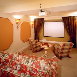 Theater Room in Luxury Home - Classic Custom Builders