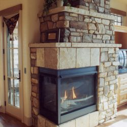 Fireplace in Custom Home - Classic Custom Builders