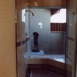 Luxury Home Master Shower with Window - Classic Custom Builders
