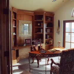 Main Office in Custom Built Home - Classic Custom Builders
