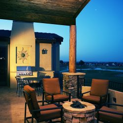 Patio and Fire Pit of New Custom Home