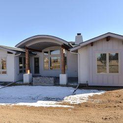 Backyard Exterior of New Custom Home