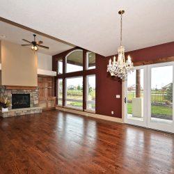 Open Living Room in Custom Home