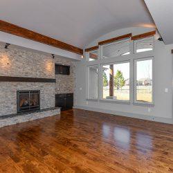 Living Room in New Custom Home