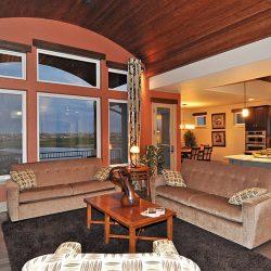 Custom Home Living Room With Furnishings